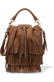 Saint Laurent Emmanuelle small fringed suede shoulder bag