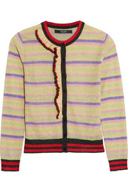 Striped metallic knitted cardigan