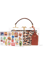 Travel Pandora leather-trimmed Perspex tote