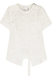 Corded guipure lace T-shirt