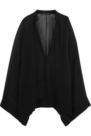 Oversized silk-georgette blouse