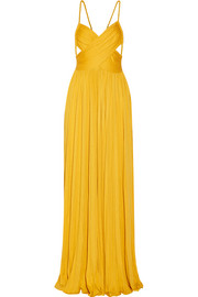 Kim plissé silk-blend jersey maxi dress