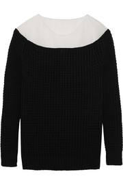 Loewe Mesh-paneled cotton-blend sweater