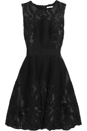 Maje Embroidered mesh dress