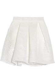 Jeko bonded guipure lace mini skirt