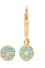 Little Round Eye gold-plated cubic zirconia earrings