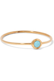 Gold-tone turquoise ring
