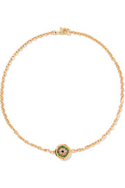 Round Eye gold-plated crystal anklet