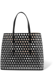 Alaïa Eyelet-embellished leather tote