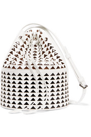Alaïa Laser-cut glossed-leather bucket bag