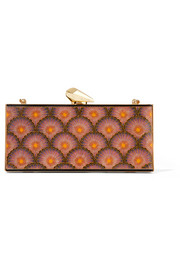 Empire Levin printed acrylic clutch