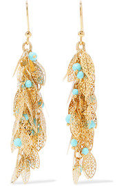 Rosantica Filigrane gold-plated turquoise earrings