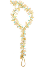 Filigrane gold-plated turquoise anklet