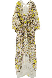 Printed silk-georgette gown