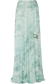 Printed stretch-jersey maxi skirt