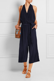 Wrap-effect silk-crepe jumpsuit