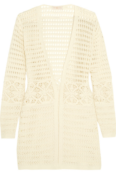 Tory Burch - Nerano Crocheted Cotton Robe - Ivory