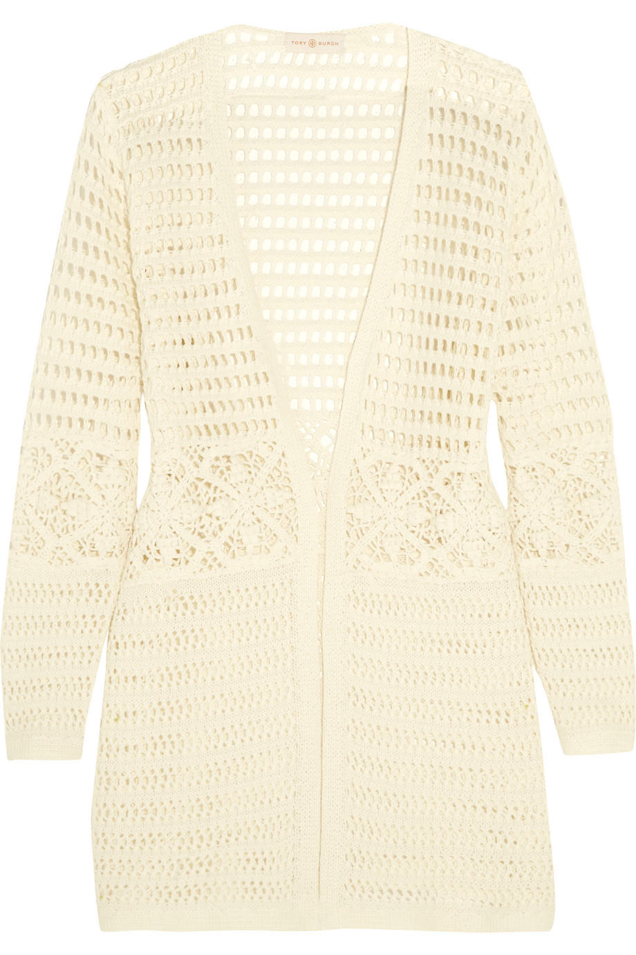 Tory Burch Nerano Crocheted Cotton Robe, Ivory, Women's, Size: XS