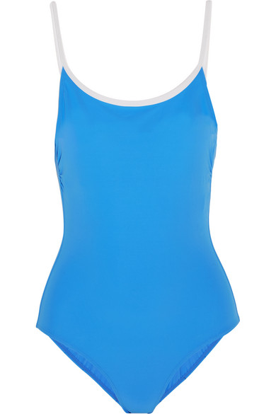 Tory Burch - Laurito Swimsuit - Light blue