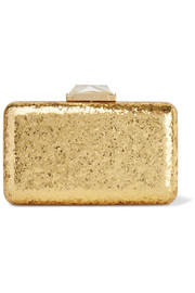 Espey glittered Perspex box clutch
