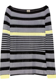 Tod's Striped stretch-knit sweater