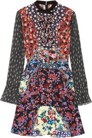 Laroy printed silk-georgette mini dress