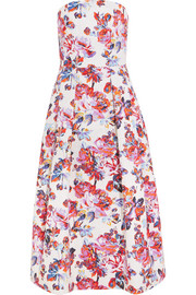 Pearl printed cotton-jacquard dress