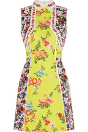 Amore floral-print silk-blend cloqué mini dress