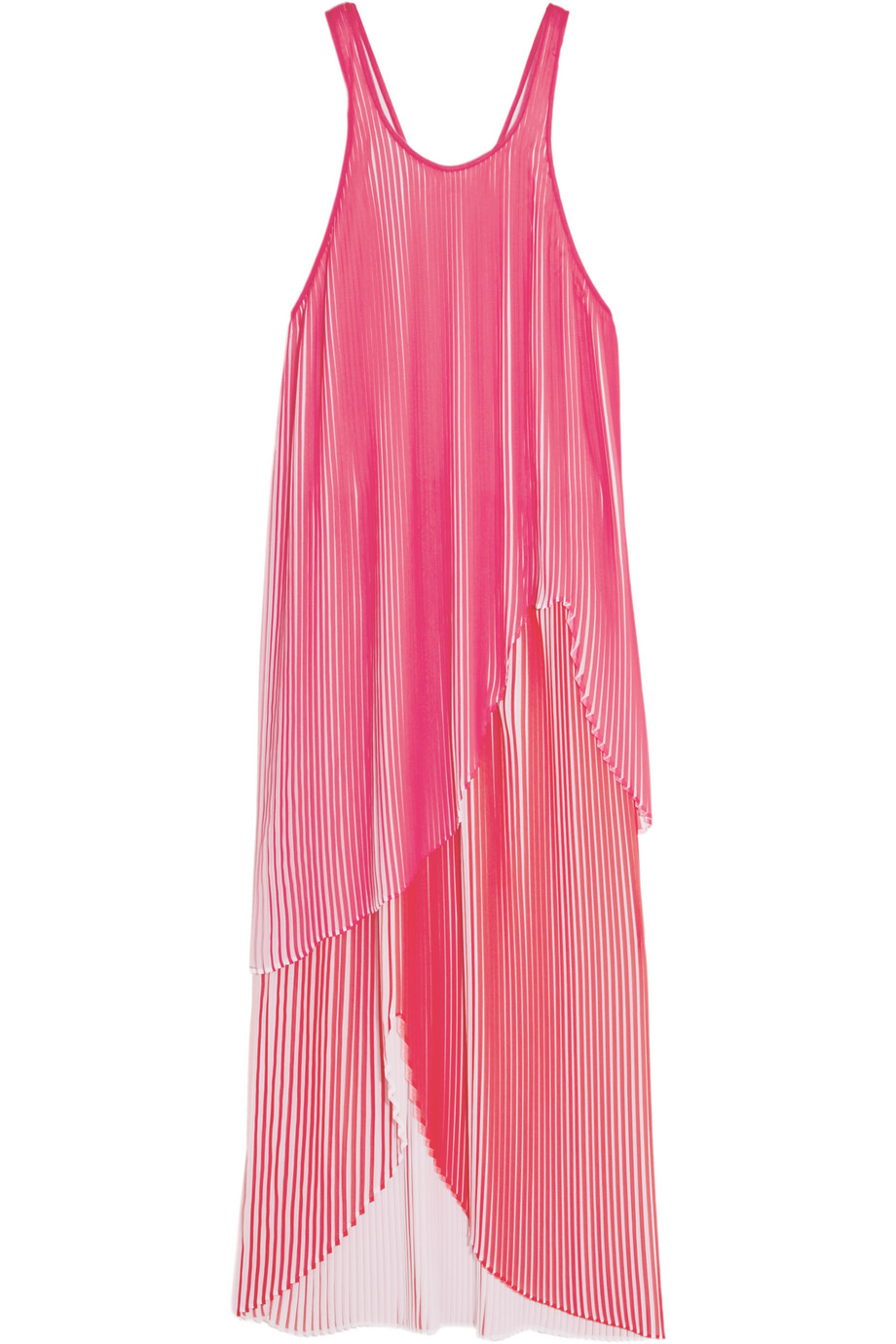 Stella Mccartney Primrose Plissé-Georgette Midi Dress, Fuchsia/Red, Women's, Size: 38