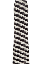 Stella McCartney Striped cotton-mesh maxi skirt