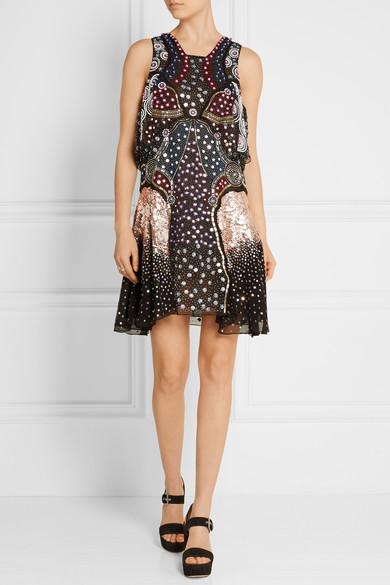 Juno embellished silk dress Mary Katrantzou GHt3DuhW