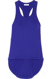 Ribbed cotton-blend tank