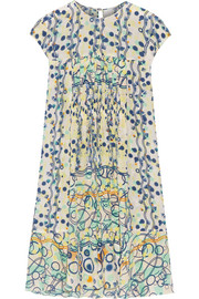 Kali printed washed-silk dress