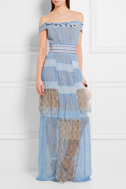 Peter Pilotto Oxygen embellished lace maxi dress