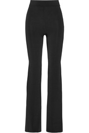 Stretch-ponte flared pants