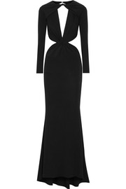 Cutout stretch-jersey gown