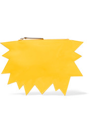 Smash patent-leather clutch