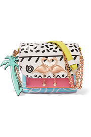 Mini Claudie Kapowski printed leather shoulder bag