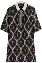 Giambattista Valli Crystal-embellished jacquard mini dress