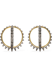 Krystallos Merkaba 18-karat gold diamond earrings