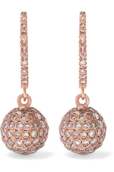 Ileana Makri - 18-karat Rose Gold Diamond Earrings