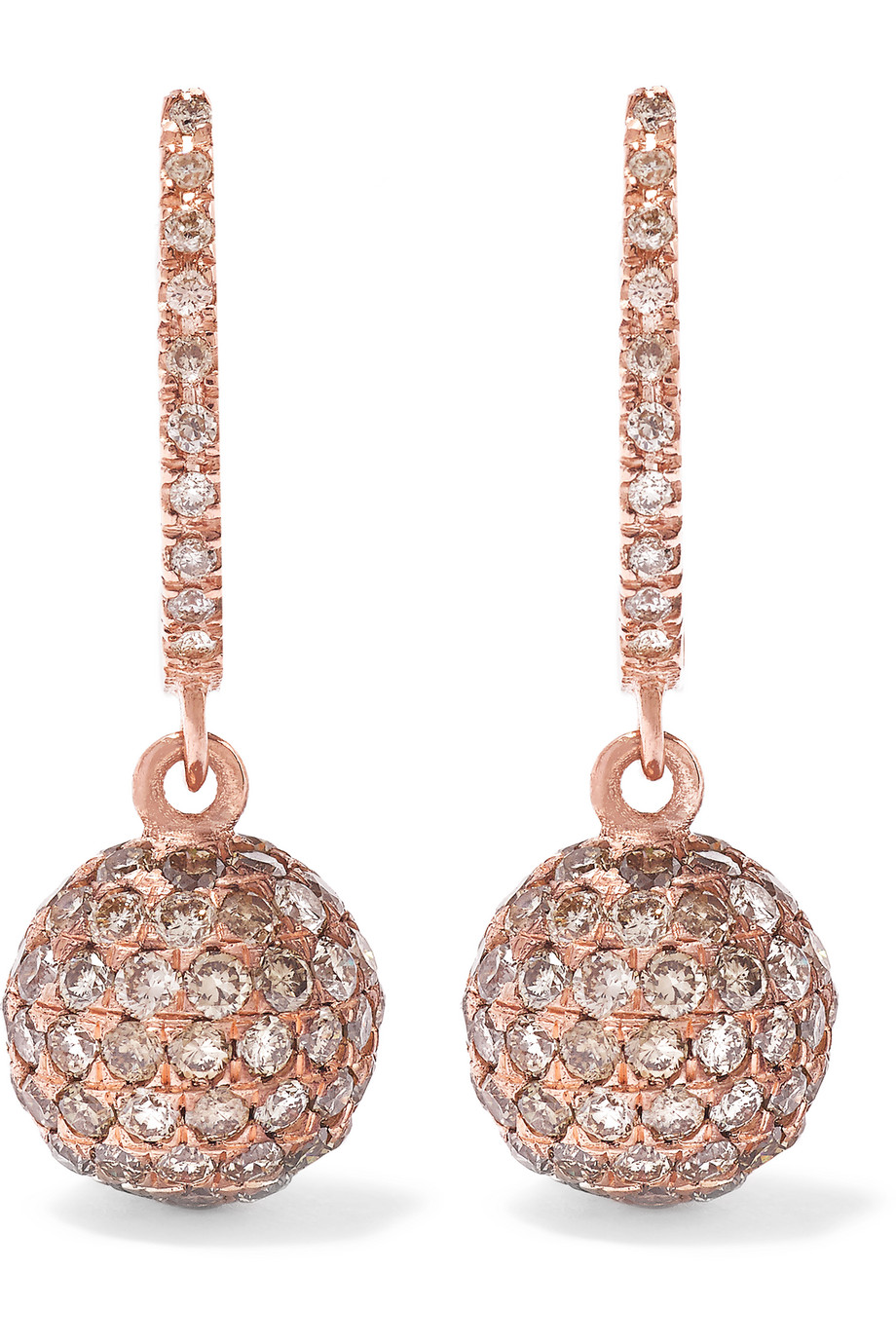 Ileana Makri 18-Karat Rose Gold Diamond Earrings, Women's