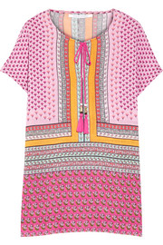 Panarea printed linen and cotton-blend gauze kaftan