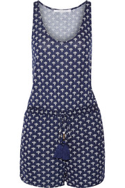 Paxos printed stretch-jersey playsuit