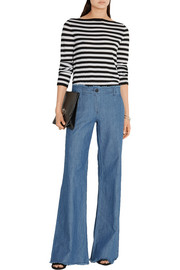 MICHAEL Michael Kors Frayed high-rise wide-leg jeans