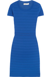 Ribbed stretch-jersey dress