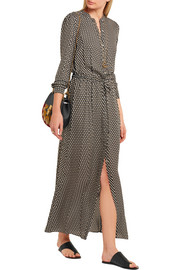 Alston polka-dot silk-crepe maxi dress