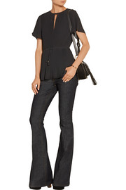 MICHAEL Michael Kors Pleated georgette top