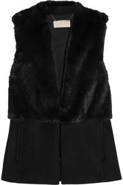 Faux fur and felt vest