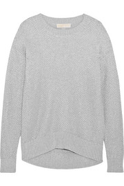 Metallic cotton-blend sweater